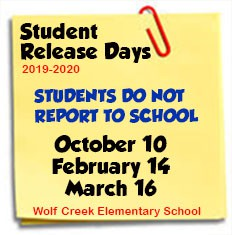 South Learning Community Student Release Days