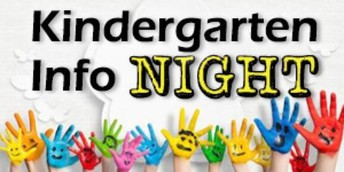 Kindergarten Information Night is Tuesday