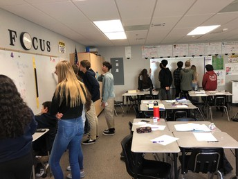 "Students in Mrs. Mariscal's AP Calculus class work interdependently and play ""Pass the Pen"" to solve rigorous problems."