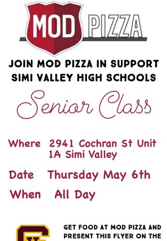 Senior Class Fundraiser!