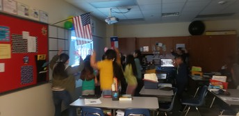 When it rain, it pours! GoNoodle indoor recess helps get our wiggles out!