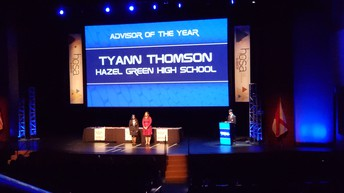 Mrs. Thomson Named Alabama's HOSA Advisor of the Year