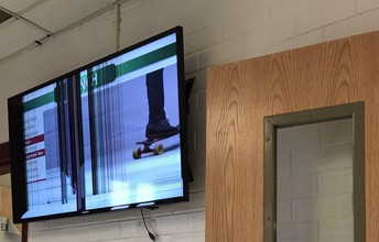 Flat Screen TV in Cafeteria!