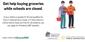 Pandemic EBT Available for all Dishman Students Enrolled in the Spring