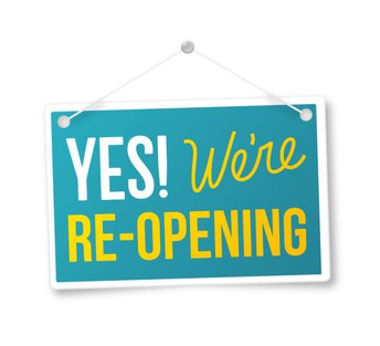 We're Re-Opening With Care