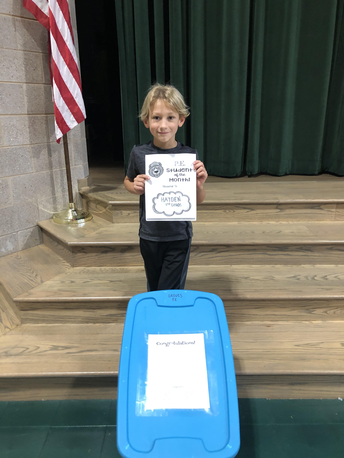 PE Student of the Month for October