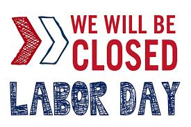 No School on Labor Day - Sept. 3