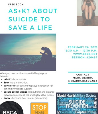 As+k? About Suicide to Save a Life