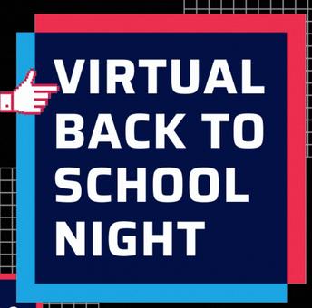 Virtual Back to School Night - August 27, 2020