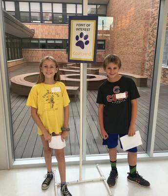 5th Grade Service Team Tour Guides at Curriculum Night