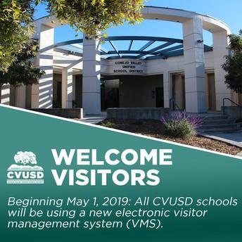 Sistema de Manejo de Visitantes nueva electrónica que viene a todas las escuelas CVUSD