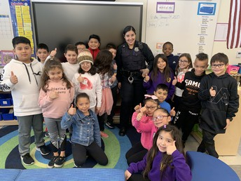 Officer Ericka Garcia visits 3rd Grade!