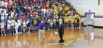 Homecoming Pep Rally: Dr. Mashburn Thanking Students and Staff for their support