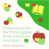 3 Apples--NYS Book Award for TWEENS &TEENS