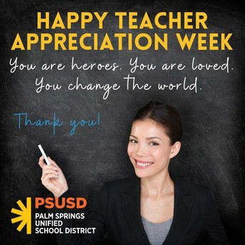 PSUSD Teacher Appreciation Week