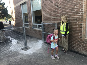 Happy to have our gate again on the kindergarten yard