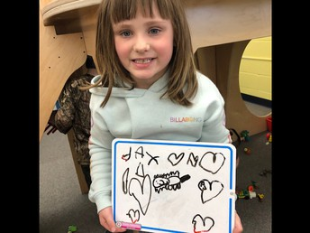 Show and Share in Kindergarten.  This is a drawing of this student's dog.