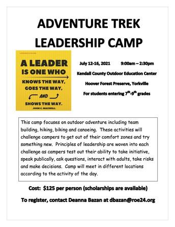 Adventure Trek Leadership Camp