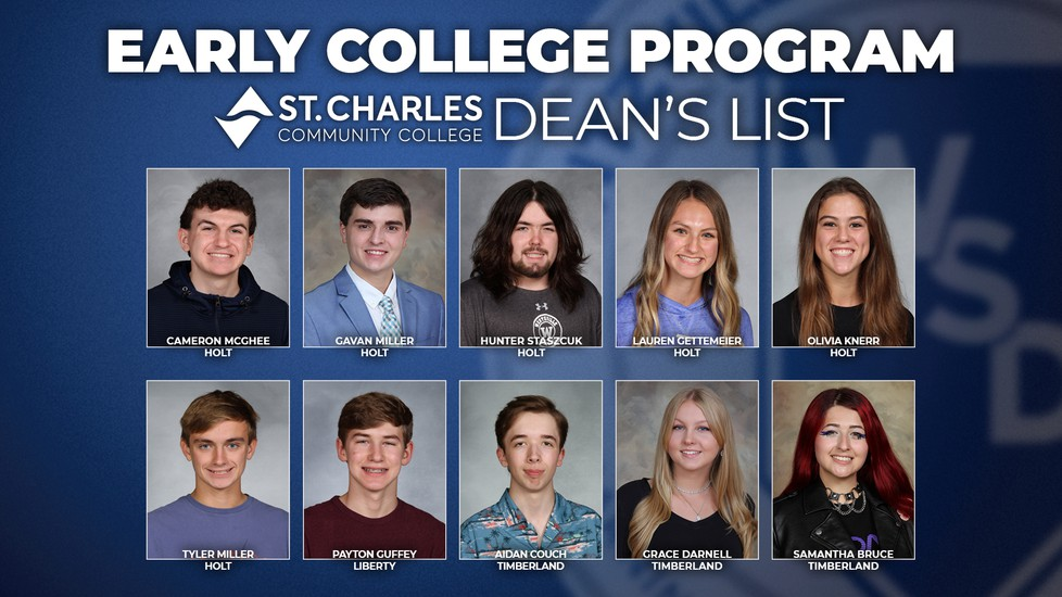 Early College Program Dean's List Students
