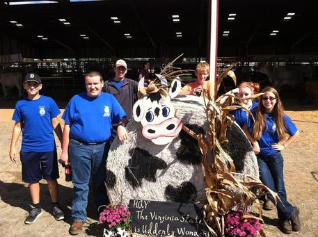 BHS FFA members and a big old cow!