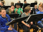 Band Students Prepare to Play