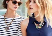 York and Collage Statement Necklaces