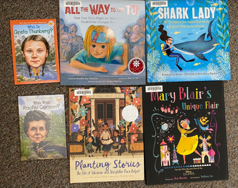 New Library Books Celebrating Women's History Month