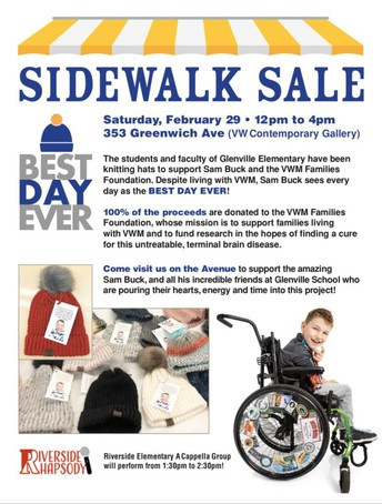 "Flyer for Sidewalk Sale to benefit the ""Best Day Ever"" fundraiser by Glenville School"