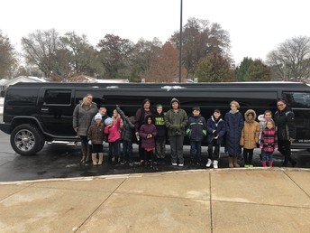 Taking a Limo as Part of Our Student Recognition at Wadsworth!