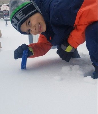 Ms. Lynch - I used my ruler to measure snow, 7 inches here!