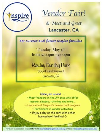 May Meet and Greet and Vendor Fair