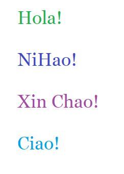 Multi-Language Message Line