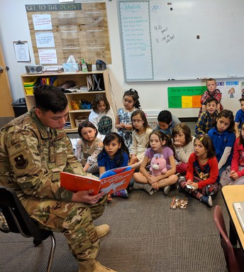 The Air Force came to read to EVERY class!