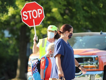 Crossing Guard Eager for First Day