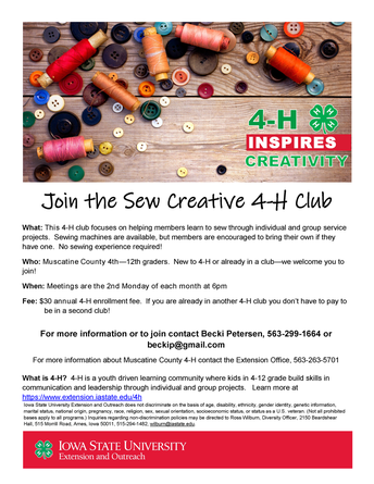 Sew Circle Club - ISU Extension/4-H