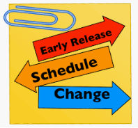 Early Release Reminder - December 20th