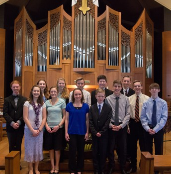 Young Organist Collaborative Student Recital, Saturday, May 12