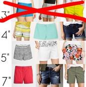 Shorts - 4 Inch Inseam.