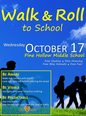 Walk & Roll to School Event: October 17