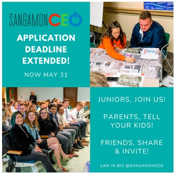 Juniors -Sangamon CEO Applications Open Until May 31st!