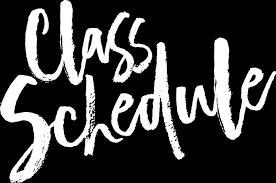 Sanders Class Schedule