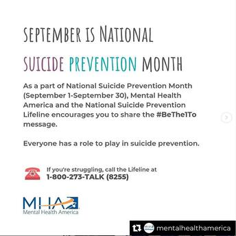 World Suicide Prevention Day (September 10)