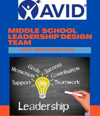 AVID Middle School Leadership Design Team