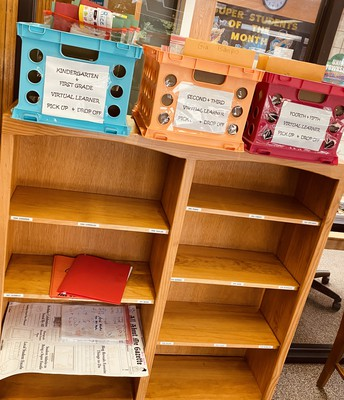 Our Virtual Learner Drop-Off and Pick-Up Shelf!