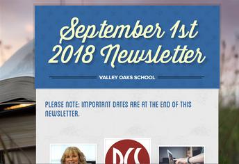 screenshot of the September newsletter