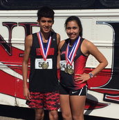 Isaac Vargas and Natalie Velardez are Cross Country District Champions!