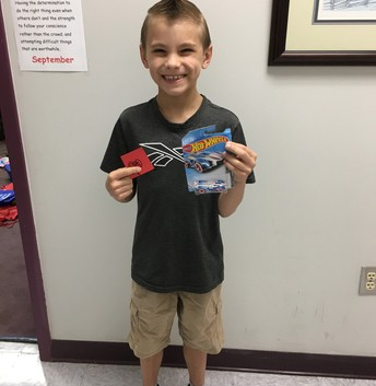 Jayce earned a Red Raider prize!
