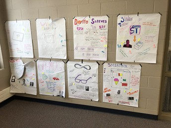 Students in Ms. Hansen's Advanced Lang and Lit class learning on Ethos, Logos, and Pathos