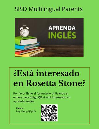 Rosetta Stone classes available for SISD parents