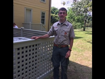 Congratulations Eagle Scout; Harry McAward